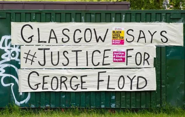 Glasgow says justice for George Flloyd